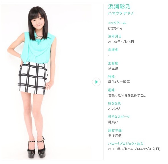 http://www.helloproject.com/helloprokenshusei/profile/ayano_hamaura/