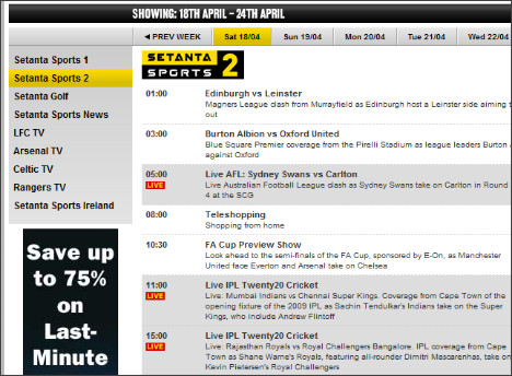 http://www.setanta.com/UK/TV-Listings/