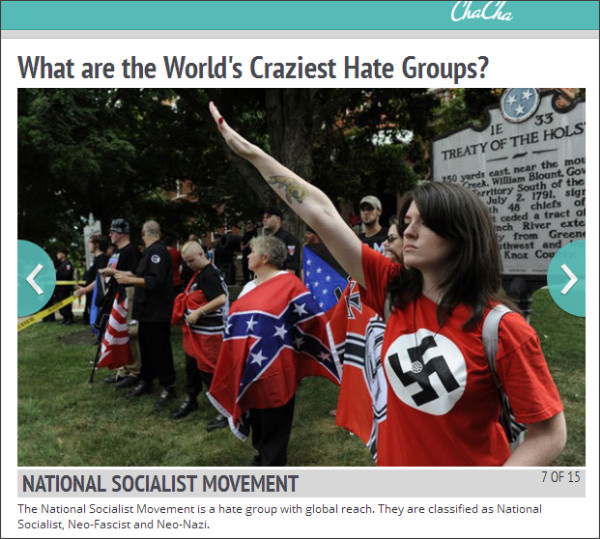 http://www.chacha.com/gallery/6648/what-are-the-world-s-craziest-hate-groups/69388