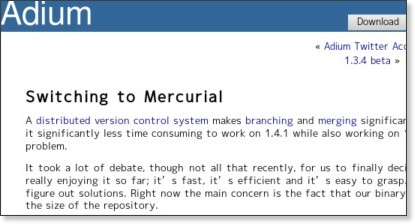 http://adiumx.com/blog/2009/04/switching-to-mercurial/