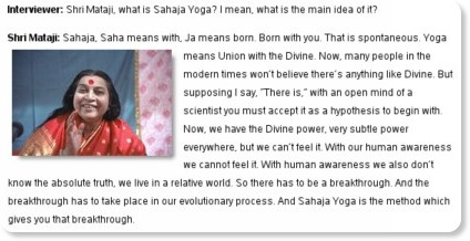 Question: Shri Mataji, what is Sahaja Yoga? I mean, what is the main idea of it? | Sahaja Yoga Meditation... Questions & Answers
