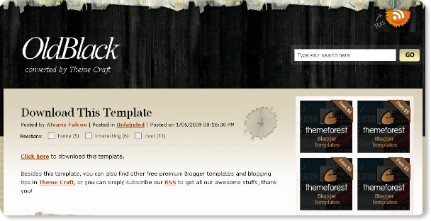 Best Black Magazine Blogger Templates