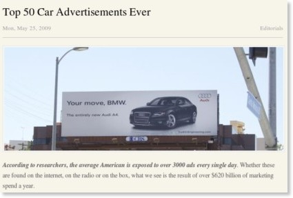 http://www.carthrottle.com/top-50-car-advertisements-ever/