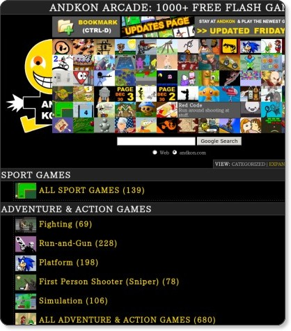 1000 free flash games