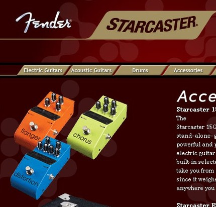 http://www.fender.com/features/starcaster/accessories.php