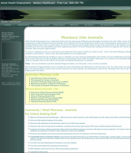 http://www.alliedhealth.com.au/Pharmacy-Jobs-Australia.htm