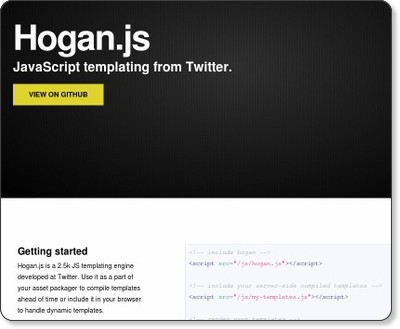 http://twitter.github.com/hogan.js/