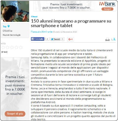 http://www.tecnicadellascuola.it/archivio/item/15321-150-alunni-imparano-a-programmare-su-smartphone-e-tablet.html