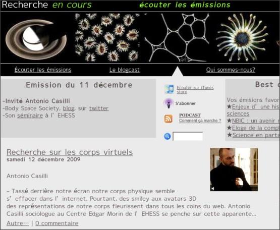 http://www.rechercheencours.fr/REC/Podcast/Podcast.html