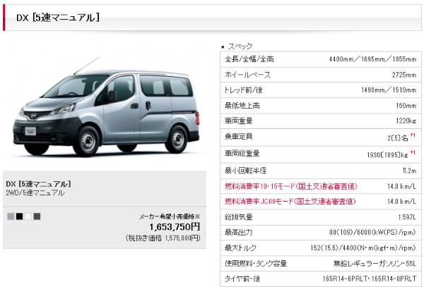 http://www.nissan.co.jp/NV200VANETTE/m200905g06.html?gradeID=G06&model=NV200VANETTE