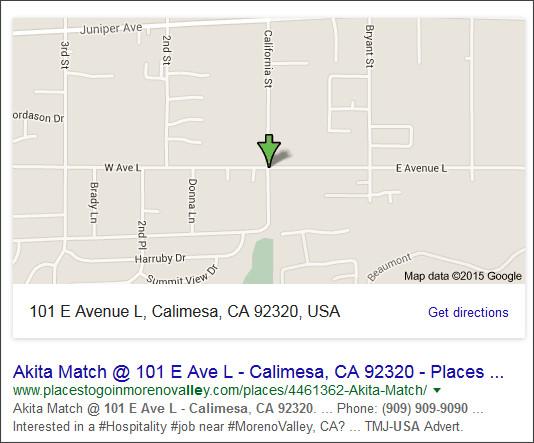 https://www.google.co.jp/?hl=EN&gws_rd=cr&ei=xaUwVt7eFM_KjwPjtYe4DA#hl=EN&q=(909)+909-9090+++++101+E+Avenue+L%2C+Calimesa%2C+CA+92320%2C+USA