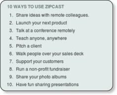 http://www.slideshare.net/zipcast