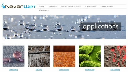 http://www.neverwet.com/applications.php