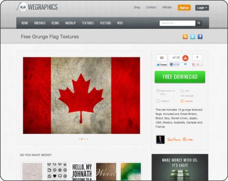 http://wegraphics.net/downloads/free-grunge-flag-textures/