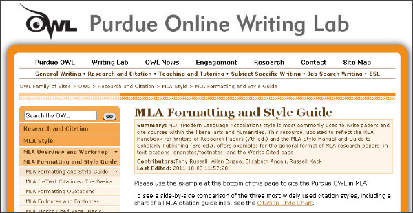 purdue owl mla thesis Welcome to the purdue owl essay sample bla bla please note that according to the mla handbook for writers of thesis statements and topic sentences help.