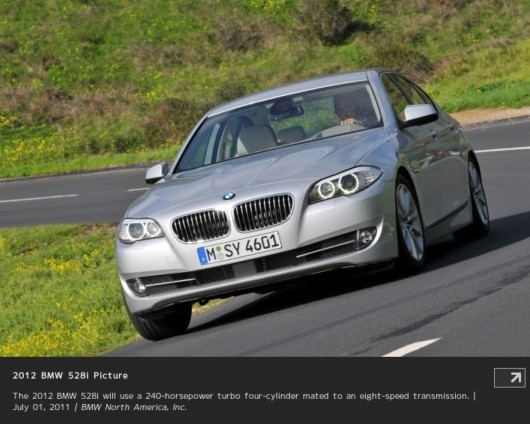 http://www.insideline.com/bmw/5-series/2012/2012-bmw-528i-to-get-turbo-four-cylinder.html