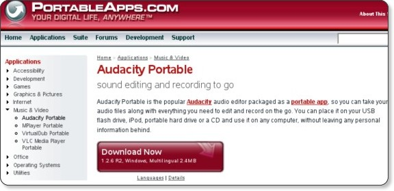 http://portableapps.com/apps/music_video/audacity_portable