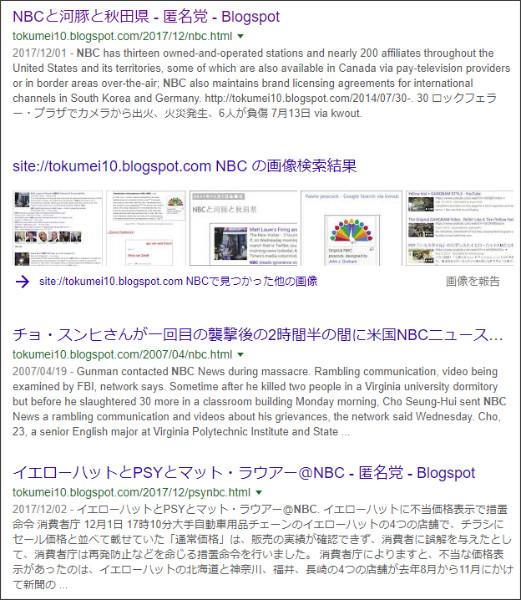 https://www.google.co.jp/search?ei=UpmSWtS-BYWujwPyyriYDw&q=site%3A%2F%2Ftokumei10.blogspot.com+NBC&oq=site%3A%2F%2Ftokumei10.blogspot.com+NBC&gs_l=psy-ab.3...2316.4286.0.5490.2.2.0.0.0.0.167.325.0j2.2.0....0...1c..64.psy-ab..0.0.0....0.t4kxA2Q1vkA