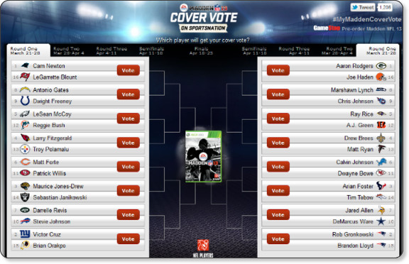 Madden '13 Cover: Vote for EA Sports' Madden NFL 2013 Cover Athlete