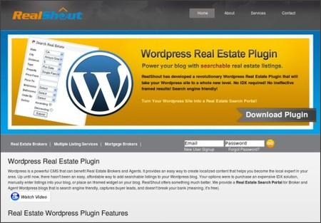 http://www.realshout.com/wordpress-real-estate-plugin.php