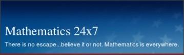 http://mathematics24x7.ning.com/