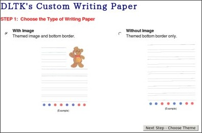 Custom writing paper dltk