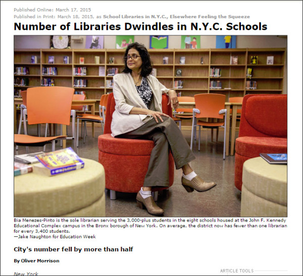 http://www.edweek.org/ew/articles/2015/03/18/number-of-libraries-dwindle-in-nyc-schools.html