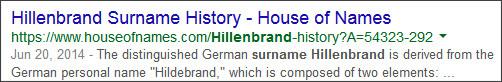 https://www.google.com/?hl=EN#hl=en&q=Hillenbrand+Surname