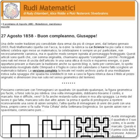 http://rudimatematici-lescienze.blogautore.espresso.repubblica.it/2008/08/27/27-agosto-1858-buon-compleanno-giuseppe/