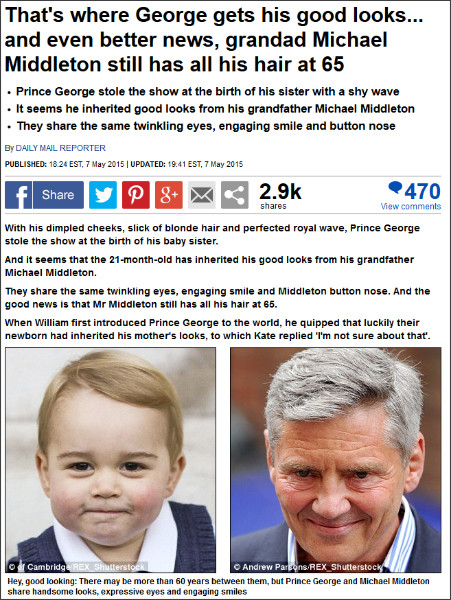 http://www.dailymail.co.uk/news/article-3072857/Prince-George-gets-looks-Michael-Middleton.html