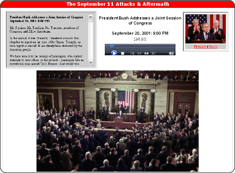 http://www.authentichistory.com/2001-2008/1-911/2-timeline2/20010920_Bush_Address_Before_Joint_Session_of_Congress.html