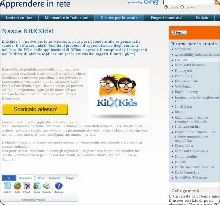 http://www.apprendereinrete.it/Risorse_online_per_la_scuola/KitxKids/KitXKids.kl