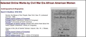 http://www.loc.gov/rr/program/bib/aacivilwarwomen/bibliography.html
