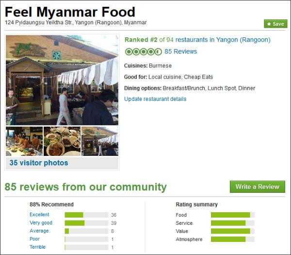 http://www.tripadvisor.co.uk/Restaurant_Review-g294191-d1860742-Reviews-Feel_Myanmar_Food-Yangon_Rangoon.html