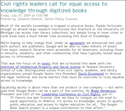 http://googlepublicpolicy.blogspot.com/2009/07/civil-rights-leaders-call-for-equal.html