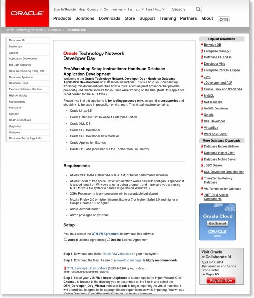 http://www.oracle.com/technetwork/database/enterprise-edition/databaseappdev-vm-161299.html