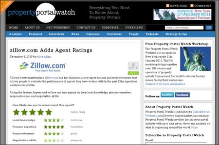 http://www1.propertyportalwatch.com/2010/12/zillow-com-adds-agent-ratings/
