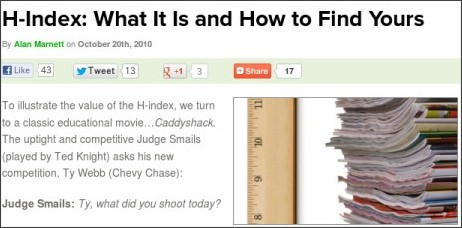 http://www.benchfly.com/blog/h-index-what-it-is-and-how-to-find-yours/