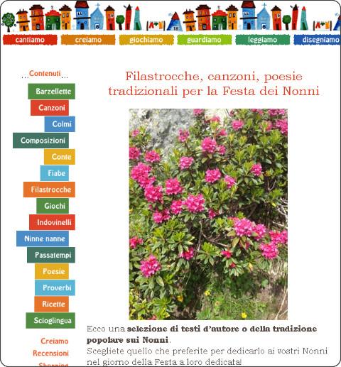 http://www.filastrocche.it/feste/filastrocche-canzoni-poesie-tradizionali-per-la-festa-dei-nonni/