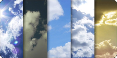 http://www.graphicsfuel.com/2012/07/high-resolution-clouds-texture-pack/