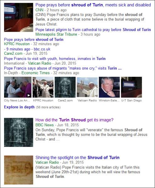 https://www.google.com/search?hl=en&gl=us&tbm=nws&authuser=0&q=Turin&oq=Turin&gs_l=news-cc.12..43j0l10j43i53.977.977.0.2650.1.1.0.0.0.0.141.141.0j1.1.0...0.0...1ac.2.fmmFa_E8PqI#hl=en&gl=us&authuser=0&tbm=nws&q=Shroud+of+Turin