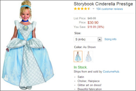 http://www.amazon.com/Storybook-Cinderella-Prestige-Costume-Small/dp/B002SAKFEG/ref=sr_1_1?ie=UTF8&qid=1378863012&sr=8-1&keywords=Cinderella+costume
