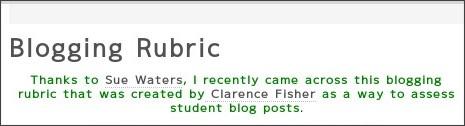 http://primarytech.globalteacher.org.au/2010/07/11/blogging-rubric/