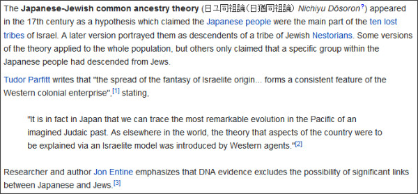 http://en.wikipedia.org/wiki/Japanese-Jewish_common_ancestry_theory