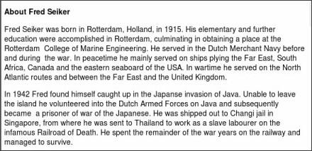 http://www.go2war2.nl/artikel/2883/Fred-Seiker-Lest-We-Forget.htm