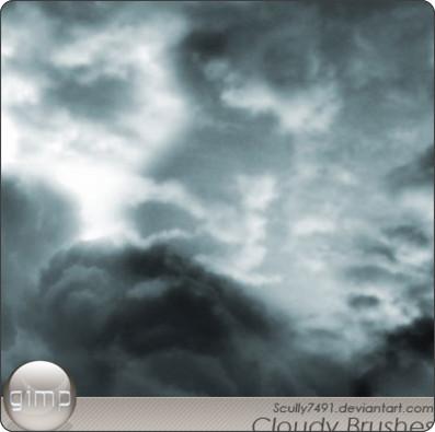 http://scully7491.deviantart.com/art/Cloudy-Brushes-version-Gimp-36179432