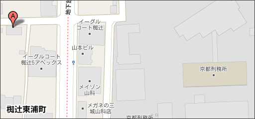 http://maps.google.co.jp/maps?hl=ja&safe=off&biw=1117&bih=939&q=%E4%BA%AC%E9%83%BD%E5%B8%82%E5%B1%B1%E7%A7%91%E5%8C%BA%E6%A4%A5%E8%BE%BB%E6%9D%B1%E6%B5%A6%E7%94%BA&um=1&ie=UTF-8&hq=&hnear=%E4%BA%AC%E9%83%BD%E5%BA%9C%E4%BA%AC%E9%83%BD%E5%B8%82%E5%B1%B1%E7%A7%91%E5%8C%BA%E6%A4%A5%E8%BE%BB%E6%9D%B1%E6%B5%A6%E7%94%BA&gl=jp&ei=0YN1TePsCYGgsQO29ai4BA&sa=X&oi=geocode_result&ct=image&resnum=1&ved=0CBkQ8gEwAA