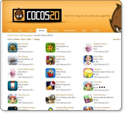 http://www.cocos2d-iphone.org/games