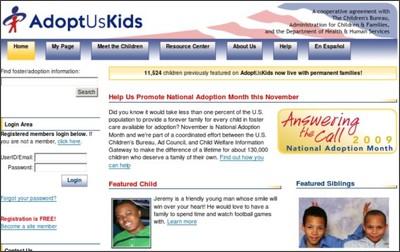 http://www.adoptuskids.org/