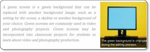 http://www.ehow.com/info_8054435_green-screen-classroom-projects.html
